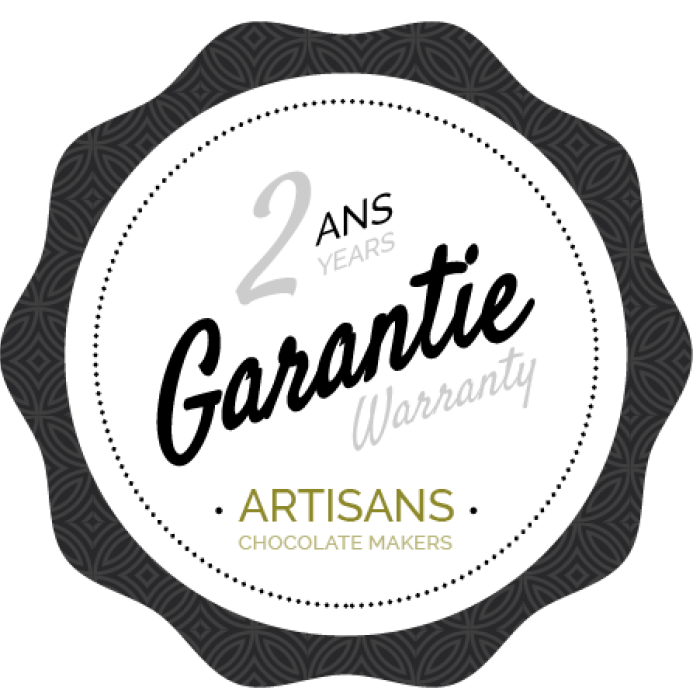 Chocolate Makers - Logo warranty chocolate makers - 2 years - Statice Tempering