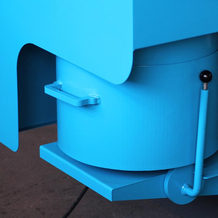 Ebavurage en tonneau - Système d'aspiration d'un MDL 400 - SPK Solutions