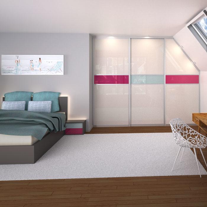 Dressings - Chambre avec placard en sous-pente IN-IPSO - VF Cuisines