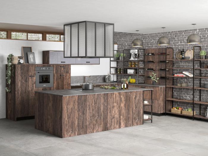 Cuisines - MOREL - Modèle Bonnie Design Industriel - Nouveauté 2020 - VF Cuisines