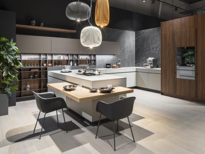 Cuisines - LEICHT - Modèle Classic FS Orlando/Marmo - Collection 2021 - VF Cuisines