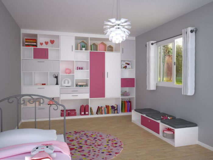Dressings - Chambre fille avec aménagements IN-IPSO - VF Cuisines