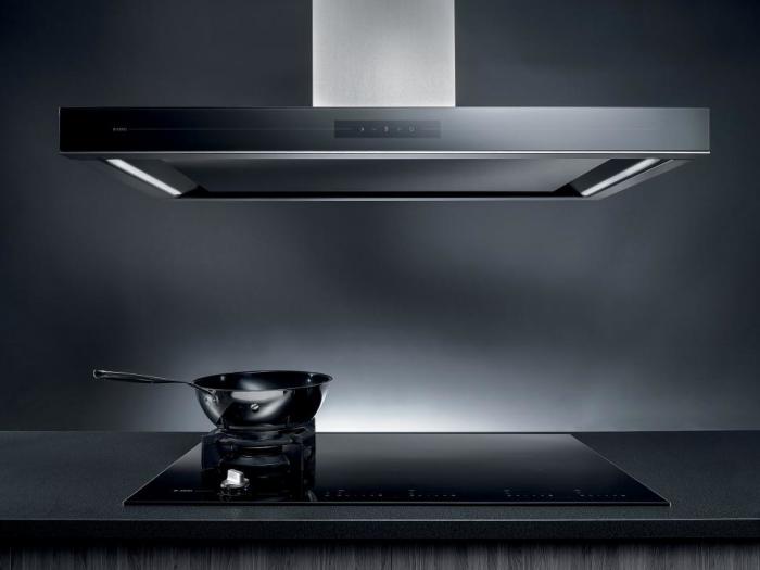 Electroménager - Hotte centrale et table de cuisson induction - VF Cuisines